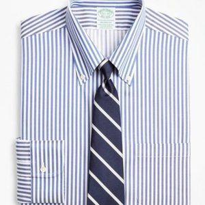 Brooks Brothers Madison Non-Iron Navy Dress Shirt